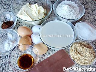 Prajitura negresa cu nuca si crema ingrediente reteta