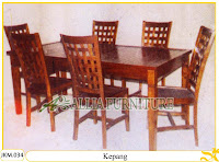 Kursi dan Meja Makan Ukiran Kayu Jati Kepang