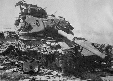Destroyed israeli tank