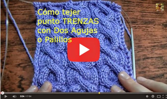 Video de clase tejido dos agujas