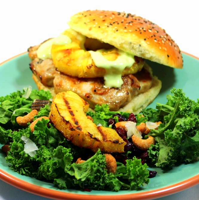 Grilling Time - Pineapple Jerk Glazed PORK CHOP Sandwich 3 TIPS for ...