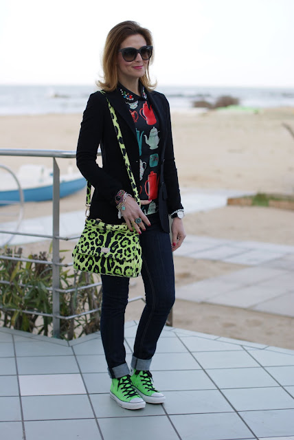 Sheinside kettle print blouse, Dolce & Gabbana Miss Sicily animalier bag, Fashion and Cookies
