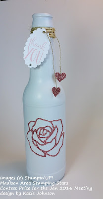 Up-cycling: Glass Beer or soda bottle recycled into a vase