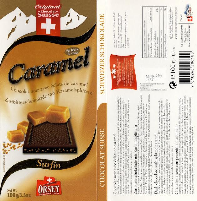 tablette de chocolat noir gourmand orset la route des alpes noir caramel
