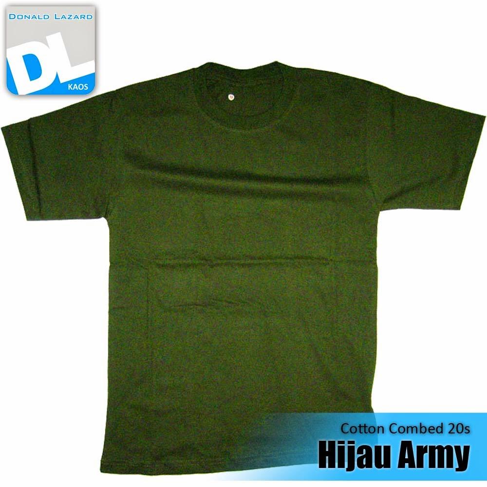 Sablon Warna Kaos Hijau Army