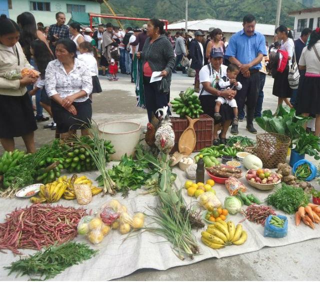 En el mercado productos que se cultivan en nuestra comunidad