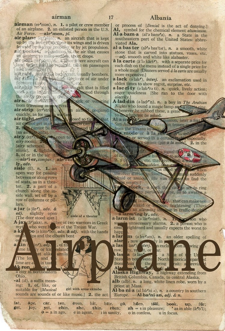 26-Vintage-Air-Plane-Kristy-Patterson-Flying-Shoes-Art-Studio-Dictionary-Drawings-www-designstack-co
