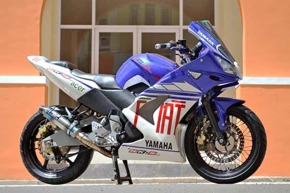 Modifikasi Yamaha bison pakai fairing motor sport