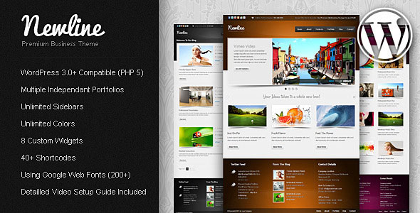 Newline - Business WordPress Theme Free Download by ThemeForest.