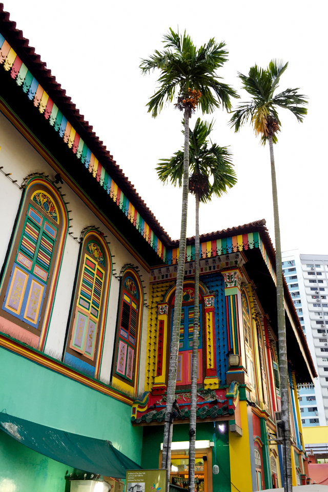 House of Tan Teng Niah - a Chinese style villa built in 1900, now painted in a rainbow of colors. Little India, Singapore.