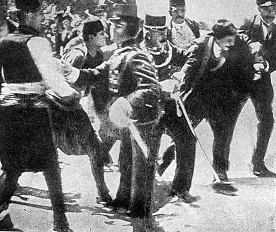 El asesinato del archiduque Francisco Fernando en Sarajevo