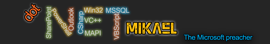 .NET Mikael Blog