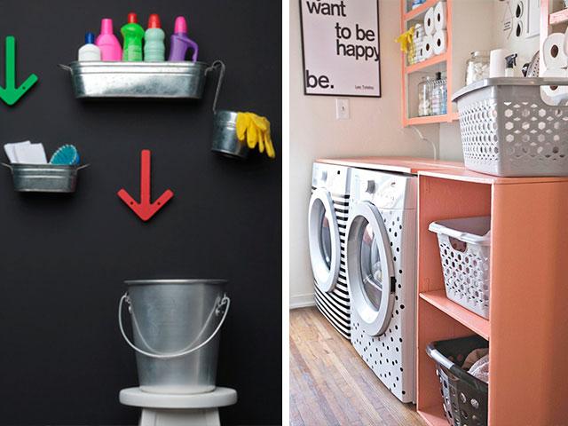 lavanderia com decoração divertida