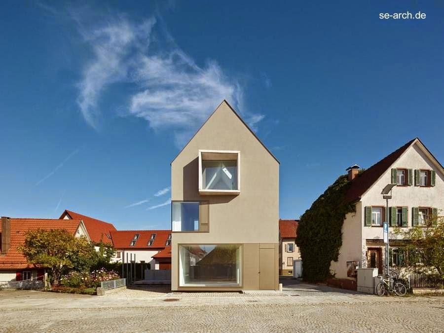 Casa residencial de pueblo diseño contemporáneo en Alemania