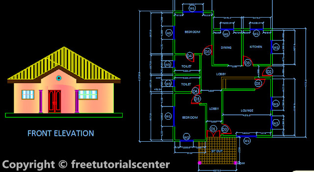 Design, Plan , Section and Front Elevation it is small house plan ...