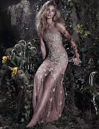 vestido longo bordado com transparência Patrícia Bonaldi verão 2015 coleção vestidos de festa