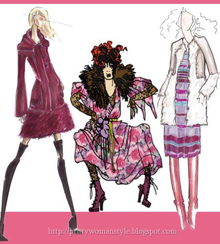 Дамска Мода Есен 2011 - цвят Орлови Нокти розово-червено