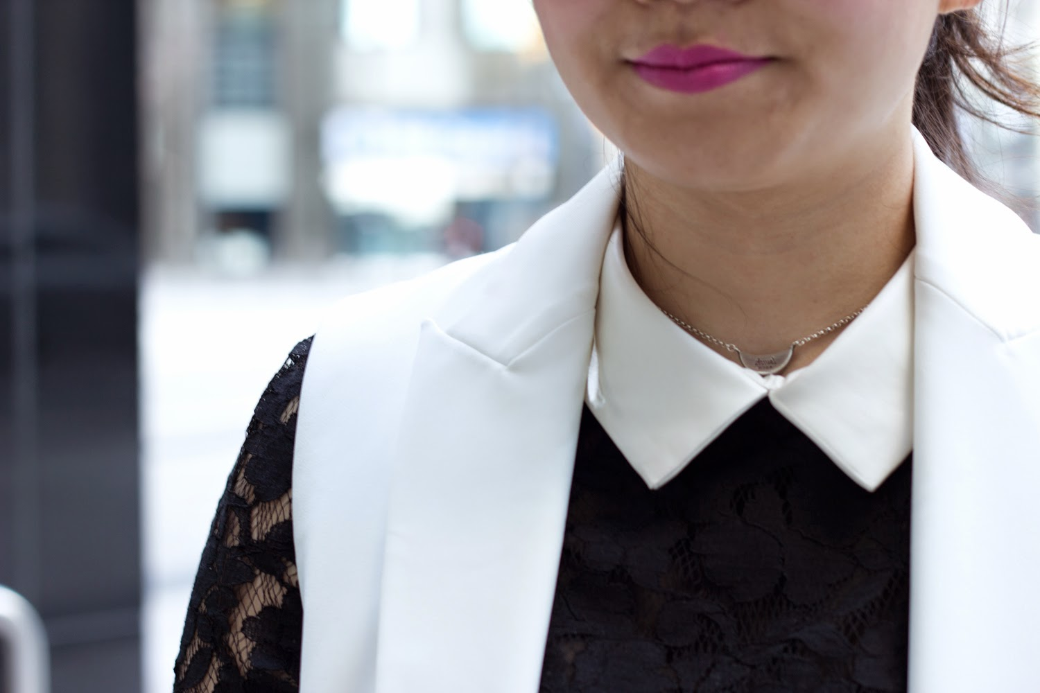 black-and-white-spring-look, lace-on-lace, white-collar-top, street-style