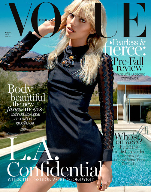 Fashion Model @ Devon Windsor by Yu Tsai for Vogue Thailand, August 2015