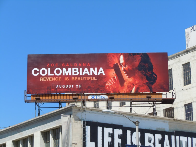 Colombiana film billboard