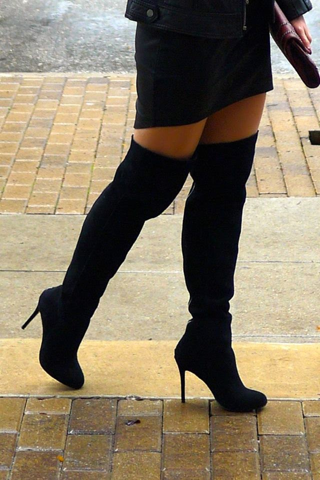 Dolce Vita Black Suede Over the Knee Boots