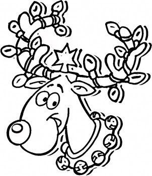 Christmas Lights Coloring Pages Printable