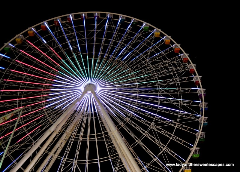 ferris wheel at the Global Village