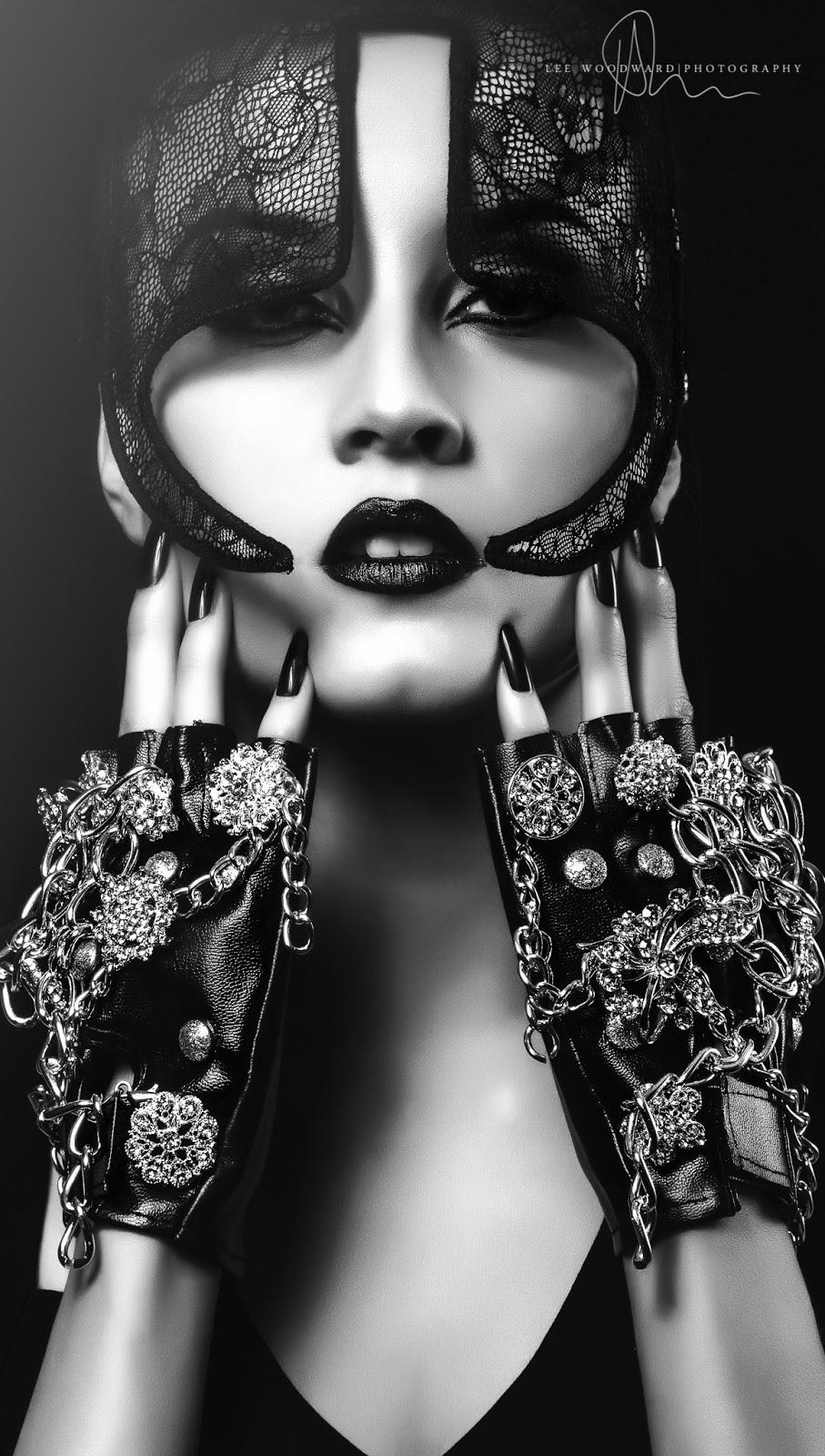 Mystic Magic, Shades Of Grey, fifty shades, fifty shades of grey, Lee Woodward Photography, photo, photography, fashion, high fashion photography, fetish, high fashion, fashion photo, dark beauty, photo shoot, masks, masquerade, mask photography, lace, lace mask, black and white photo, style, vogue
