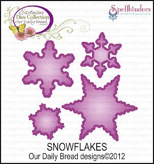 ODBD Exclusive Spellbinders Snowflakes Die Set