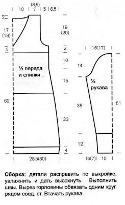 http://www.vyazemsami.ru// Мини-платье Выкройка