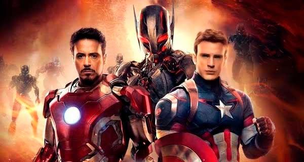 """Capitán América, Ultron y Iron Man en """"Vengadores: La era de Ultrón"""""""