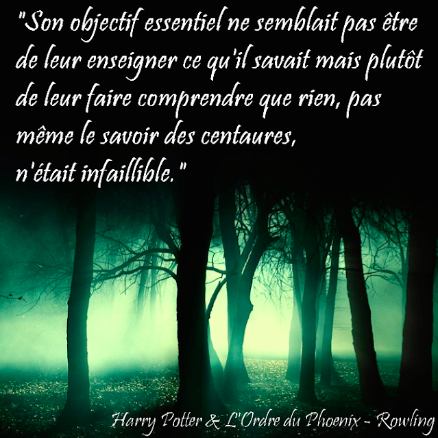 Citation Harry Potter et l'Ordre du Phoenix - Rowling