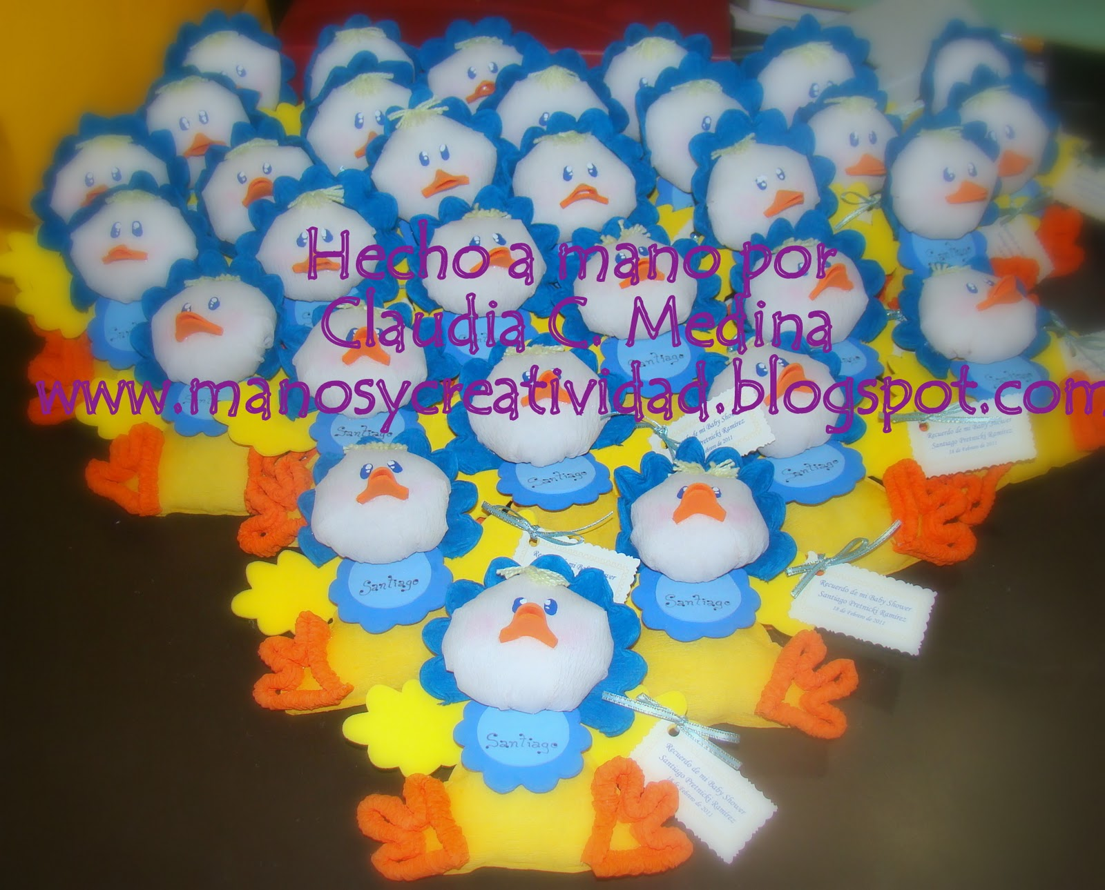 Centro De Mesa Con Patitos Para Baby Shower
