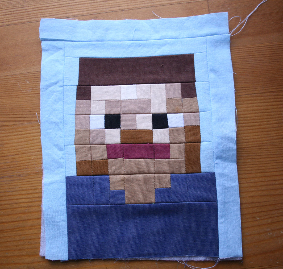 Tangible Pursuits: Minecraft Steve Pieced
