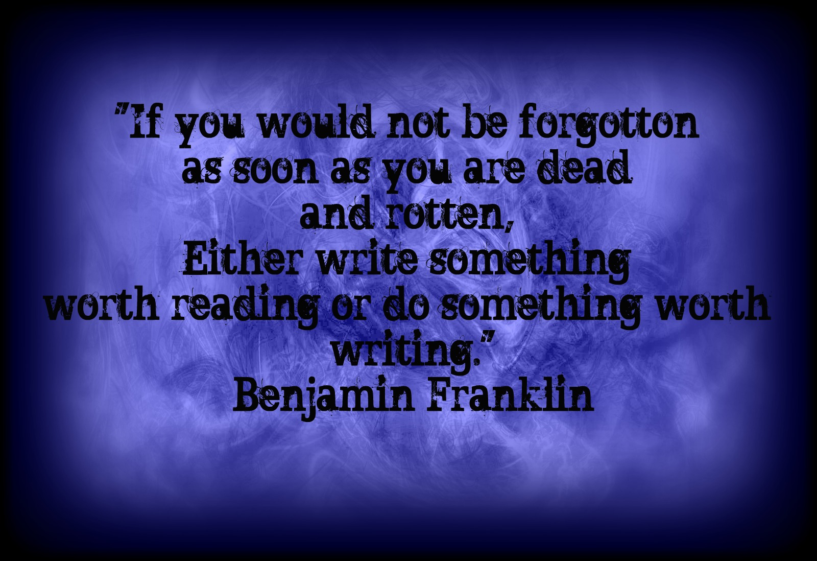 Franklyn quotes