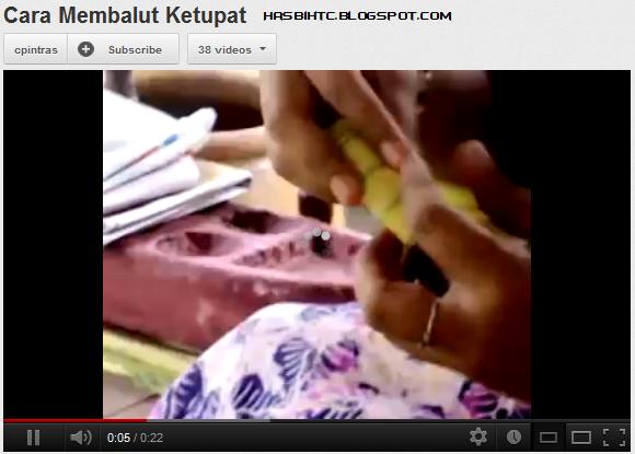 video cara membuat ketupat