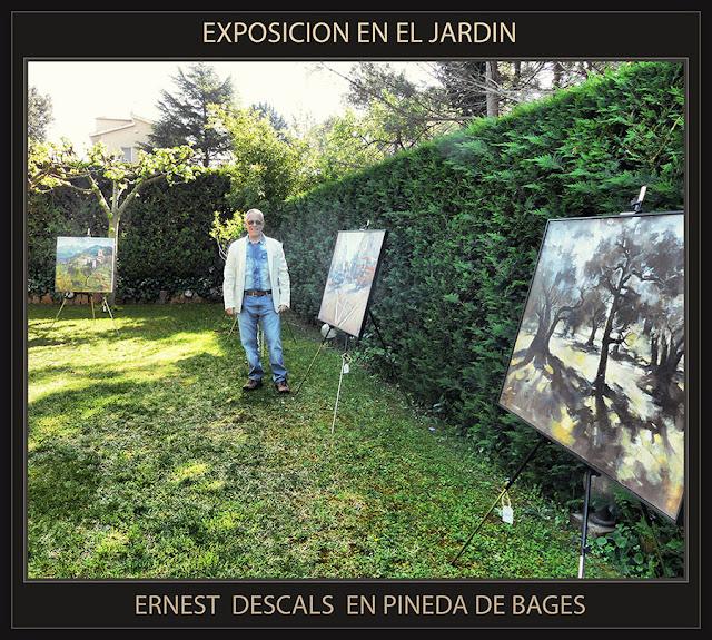 PINTURA-ARTE-ART-JARDI-EXPOSICION-JARDIN-PINEDA DE BAGES-CATALUNYA-FOTOS-PINTOR-ERNEST DESCALS-