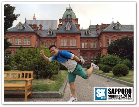 Sapporo Japan - My signature pose at the Former Hokkaido Government Office