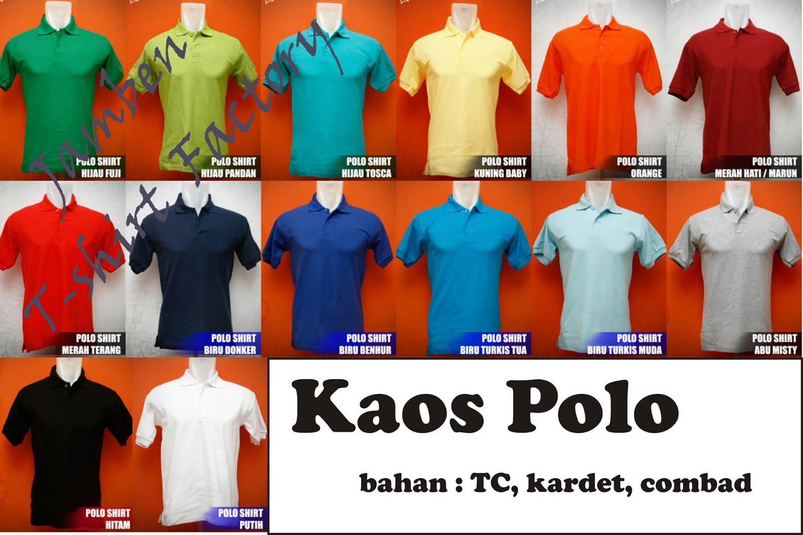 Obral Kaos Polo Murah Jamben T Shirt Factory Polos Red Misty