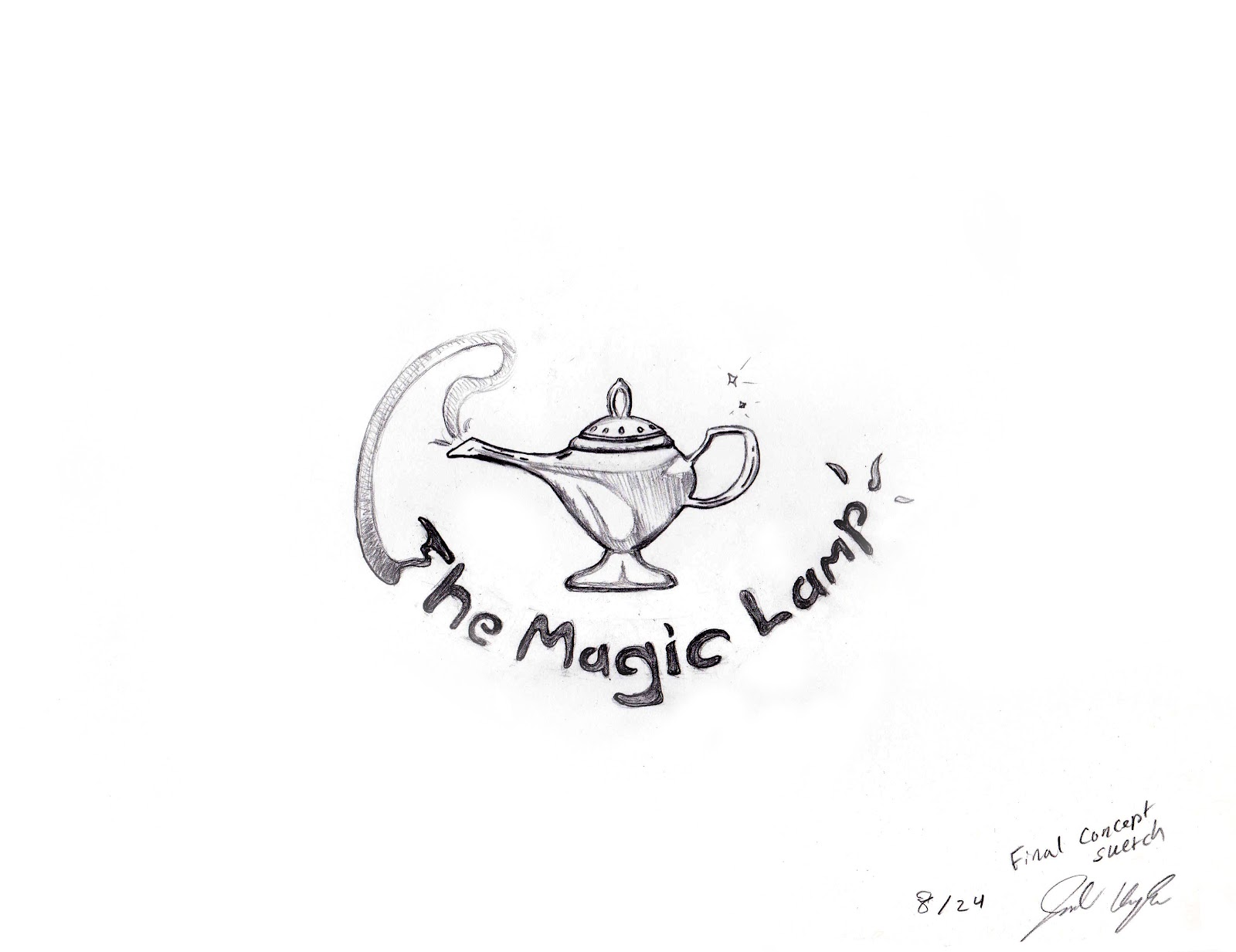 Jonathan Kaplan: The Magic Lamp: Concept Sheet, Drawing, 3D Model ... for Magic Lamp Drawing  156eri