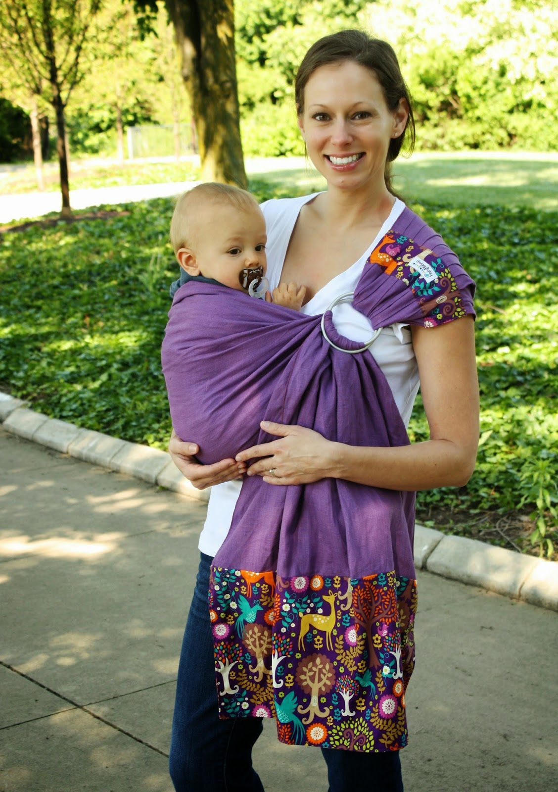 Snuggy Baby Fantasy Forest Linen Banded Ring Sling