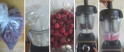 Zubereitung Raspberry Frozen Yogurt, Zubereitung Schnelles Himbeer-Joghurt-Eis