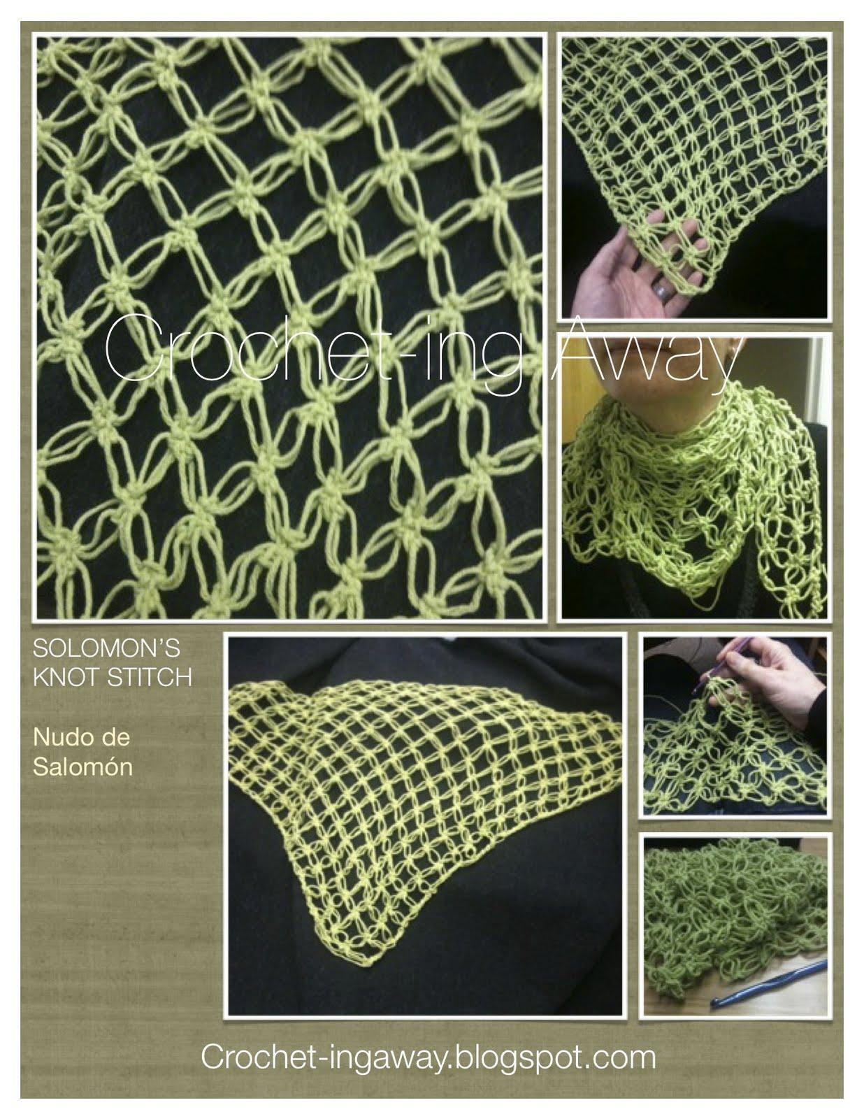 Crochet Knot Stitch Instructions : Crochet-ing Away: M?s nudo de Salomon / More Salomons Knot Stitch