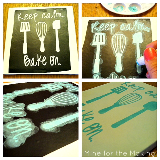 DIY Kitchen Canvas Art {tutorial}