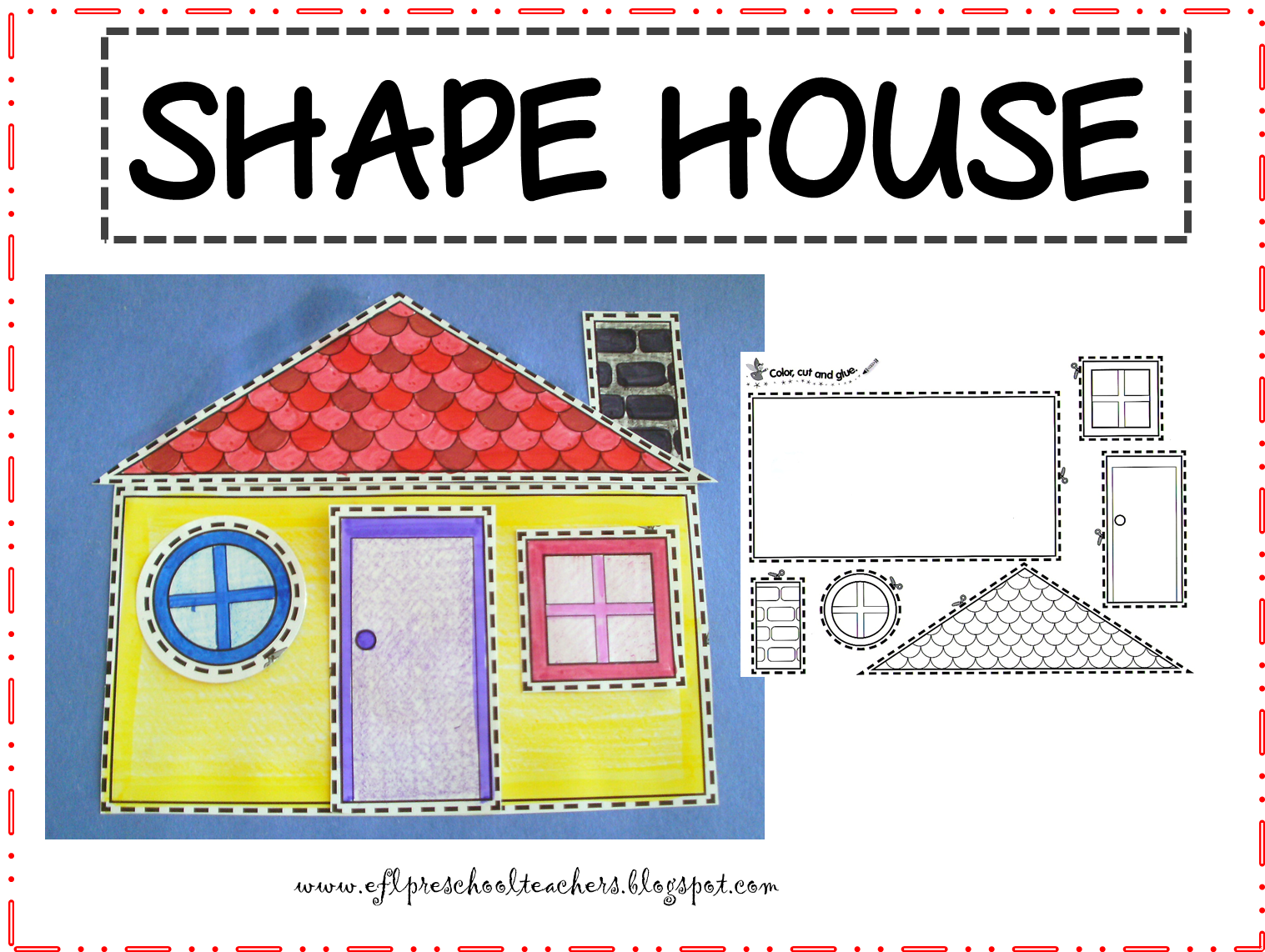 Esl efl preschool teachers house resources for preschool ela for Different shapes of houses