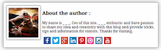 How to add Cool author bio box below posts in blogger