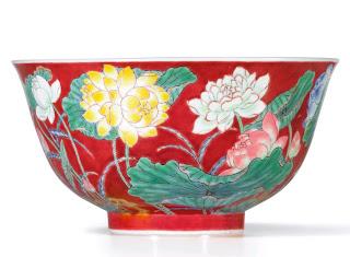 Rare Kangxi falancai bowl