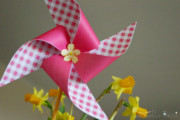Easter garden party pinwheel
