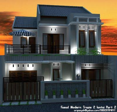 Desain Rumah 2 Lantai Modern Minimalis 2014  Rumah Minimalis