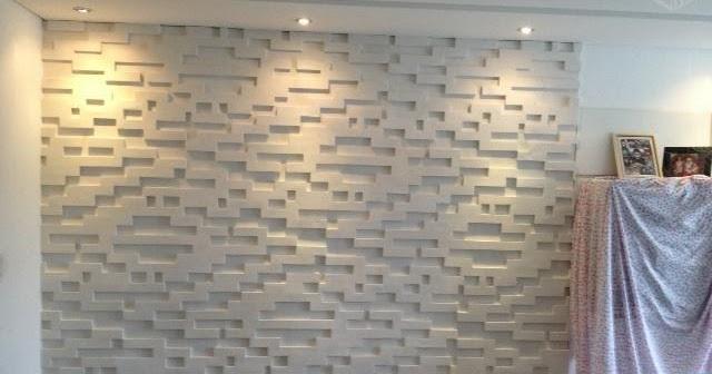 Se virando aos 30 parede de gesso 3d a onda do momento for Placas decoradas para pared